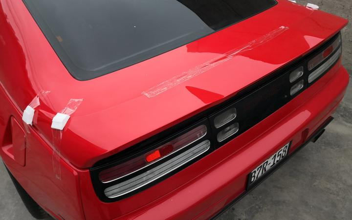 twinz 300zx rear wing installation